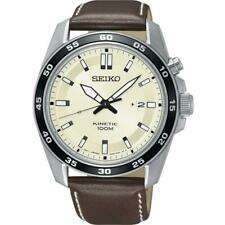 Seiko SKA787P1 Gents Leather Strap Date Kinetic 100m WR Watch RRP £249