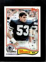 1982 TOPPS #308 BOB BREUNIG EXMT COWBOYS NICELY CENTERED  *X16315