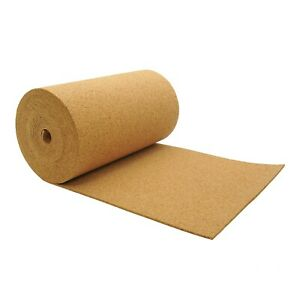 CORK UNDERLAY CORK ROLL VARIOUS THICKNESSES, 2MM, 4MM AND 6MM