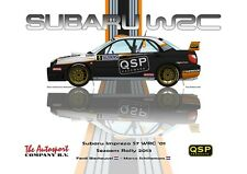 Print on Canvas Subaru Impreza WRC S7 #5 Biesheuvel Schillemans Vert. 80 x 60