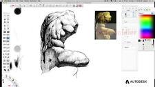 Autodesk SketchBook software Pro Full Activation Lifetime Warranty drawing tool