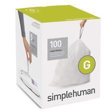 Simple Human Drawstring Trash Bags 100 pk Custom Fit 8 Gallon Garbage Can Code G