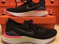 NEW! Men's Nike Epic React Flyknit 2 BQ8928-003 Black/Black-Sapphire Shoes