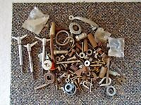 "Mixed Lot Of Over 3 Lbs.Of "" NOS "" And Used Bolts,Nuts,Screws,etc."" GREAT LOT """