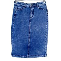 Refuge Lifestyle Womens Denim Skirt Size 12 Casual