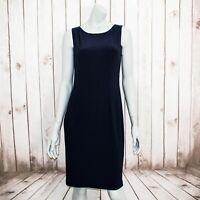 Joseph Ribkoff Women's Sleeveless Sheath Jersey Dress Blue Size 10
