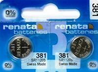 381 RENATA SR1120S (2 piece) WATCH BATTERY New packaging Authorized Seller