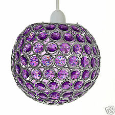 Chandelier Style Round Ceiling Pendant Light Shade Acrylic Crystal Droplet Bead