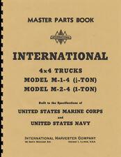 International Harvester ~ M-1-4 & M-2-4 ~ WWII Master Parts List Manual ~ Reprnt