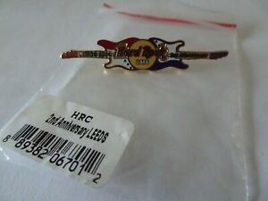 Hard Rock Cafe pin Leeds 2nd anniversary Guitars on Classic Logo