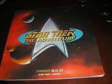 STAR TREK THE ADVENTURE HYDE PARK LONDON 18/12/02 SOUVENIR BROCHURE 50 PAGES