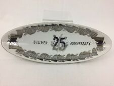 Norcrest Silver Anniversary 25 Years Relish Olive Candy Dish Tray 5256-S