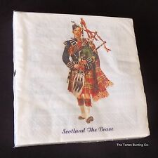 Scottish Piper 3 ply paper 33cm napkins (Pack of 20) AP2129 Burns Night Party