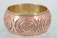 CAROL FOR EVA GRAHAM MADE IN INDIA BRASS & COPPER BANGLE BRACELET FASHION 0178B