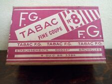 Ancien paquet de Tabac F.G. - N°8 - GOSSET - BELGIUM - 50 gr. - 3 photos