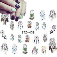 Nail Art Sticker Water Decals Transfer Stickers Indian Dreamcatchers (438)