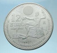 2005 SPAIN Don Quixote Hologram in Sun Genuine Silver 12Euro Spanish Coin i77980