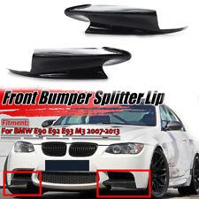 Pair Front Bumper Lip Splitter Gloss Black For 2007-2013 BMW E90 Sedan E92 93 M3