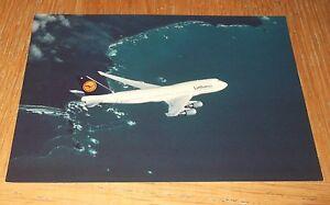 Lufthansa Boeing 747-400 branded postcard MINT CONDITION