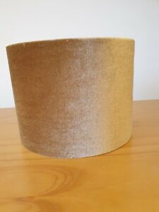 John Lewis Lampshade Jenny Velvet Cylinder Drum Lamps hade, Gold Small 20x15cm