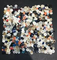 Vintage Lot Of Buttons - 300g / 10.4 oz - All Shapes, Sizes & Colours