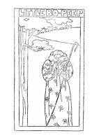 Vintage Visage iron on embroidery transfer-little bo peep art nouveau 2 sheets