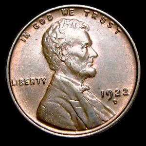 1922-D Lincoln Cent Wheat Penny ---- GEM BU+ Condition Original ---- #E458