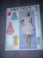 MCCALLS PATTERN 7321 ~ LADIES PARTY PROM TULLE DRESS ~ SZ 14-22 ~ NEW