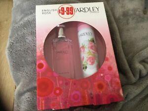 Yardley English Rose Eau de Toilette 50ml & Body Spray 75ml Gift Set BNIB