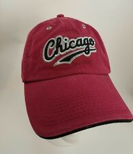Chicago Baseball Hat Cap Red Adjustable Embroidered