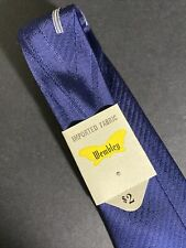 WEMBLEY FABRICS Vintage Men's Neck Tie - Dark Blue with Striped Design - Acetate