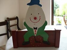 Hand made wooden 'Humpty Dumpty clock