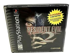 Sony PlayStation 1 PS1 Resident Evil 2 Black Label Case Only No Discs/ Manual VG