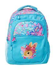 SMIGGLE Girls LARGE BACKPACK Bunny Rabbit School Bag Blue Back Pack