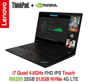ThinkPad T490 i7 4.6GHz nVIDIA FHD Touch 32GB 512GB 4G Premier OS Warranty T14