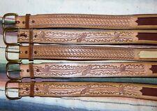 Vintage Tony Lama Basket Weave & Oak Leaf Leather Western Belt 36 Lot Of 5 New