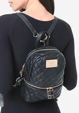 NWT$79 Bebe Danielle Quilted Mini Black Backpack Hand Bag Shoulder Purse