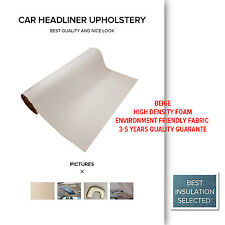 Beige 1.5M x 6M Foam Backed Car Roof Lining Upholstery Truck Suede Headliner DIY
