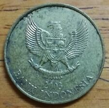 (RM) Lot #2 2003 Indonesia Republic 500 Rupiah 24 mm Coin good grade VF