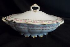 Haviland Limoges France: Schleiger 526 Oval Covered Vegetable -Tea Rose-STUNNING