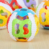 Baby Rattles Ball Puzzle Grasping Soft Plastic Hand Colorful Bell Rattle Toys