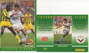 "1 carte(s) football PANINI  ""FUTURE STARS 1995""    Z. ZIDANE"