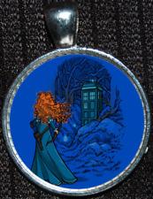 Disney Brave Merida Doctor Who Tardis Time Lord Police Box Pendant Necklace