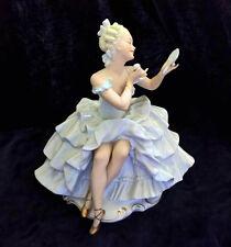 Vintage Porcelain Figurine Ballerina Lady  Schaubach Kunst Germany Dresden