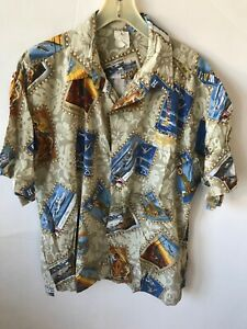 Jimmy Buffett Hawaiian Tour Shirt 2002 Floral Button Down Coastal Living Corona