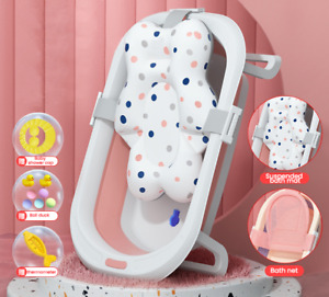 Foldable Large Size Kids Shower Stand Bath Tub For Newborn Baby Seat Set