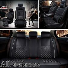 Deluxe All seasons 3PCS/Set  Car Seat Cover Cushions w/PU Leather w/Pillows -NEW