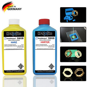 + Anmischmaterial PUR Gießharz Abformmasse SET + Silikonkautschuk Resin