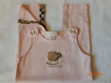 EUC Burberry Girl size 9 month Pink Nova Check SUPER Soft LAMB Longall