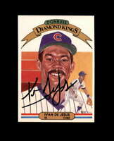 Ivan De Jesus Hand Signed 1982 Diamond Kings Chicago Cubs Autograph